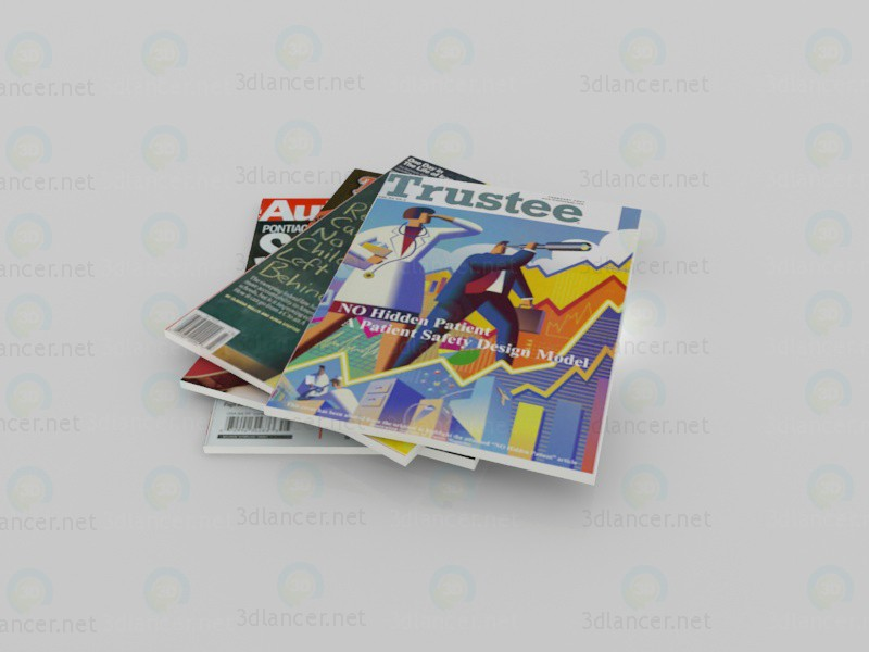 3d модель Журналы – превью