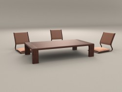 Japanese low table and chairs