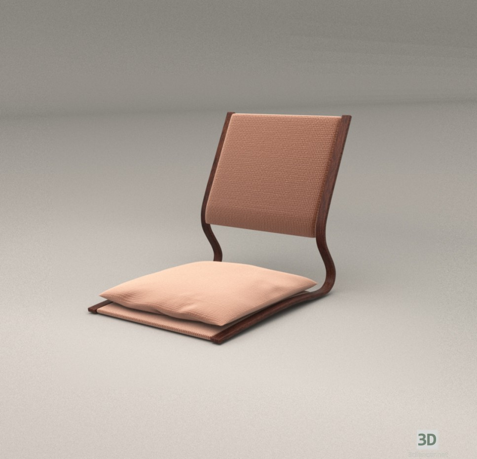 3d Model Japanese Low Table And Chairs