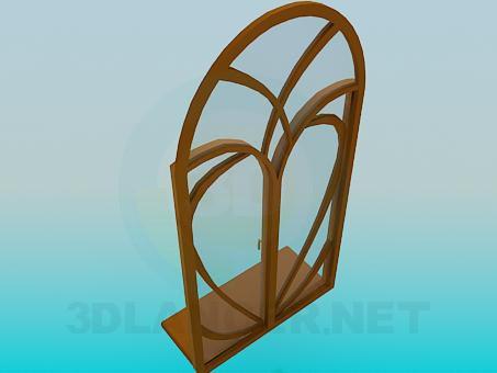 3d модель Окно радиусное – превью