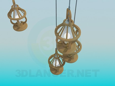 3d modeling Flashlight and chandelier in the set-kerosene lamp model free download