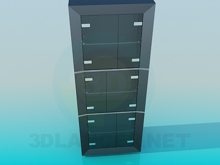 3d modeling Shelving in the office model free download