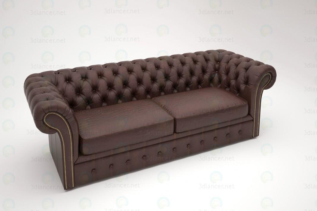 3d Triple sofa Chester model buy - render
