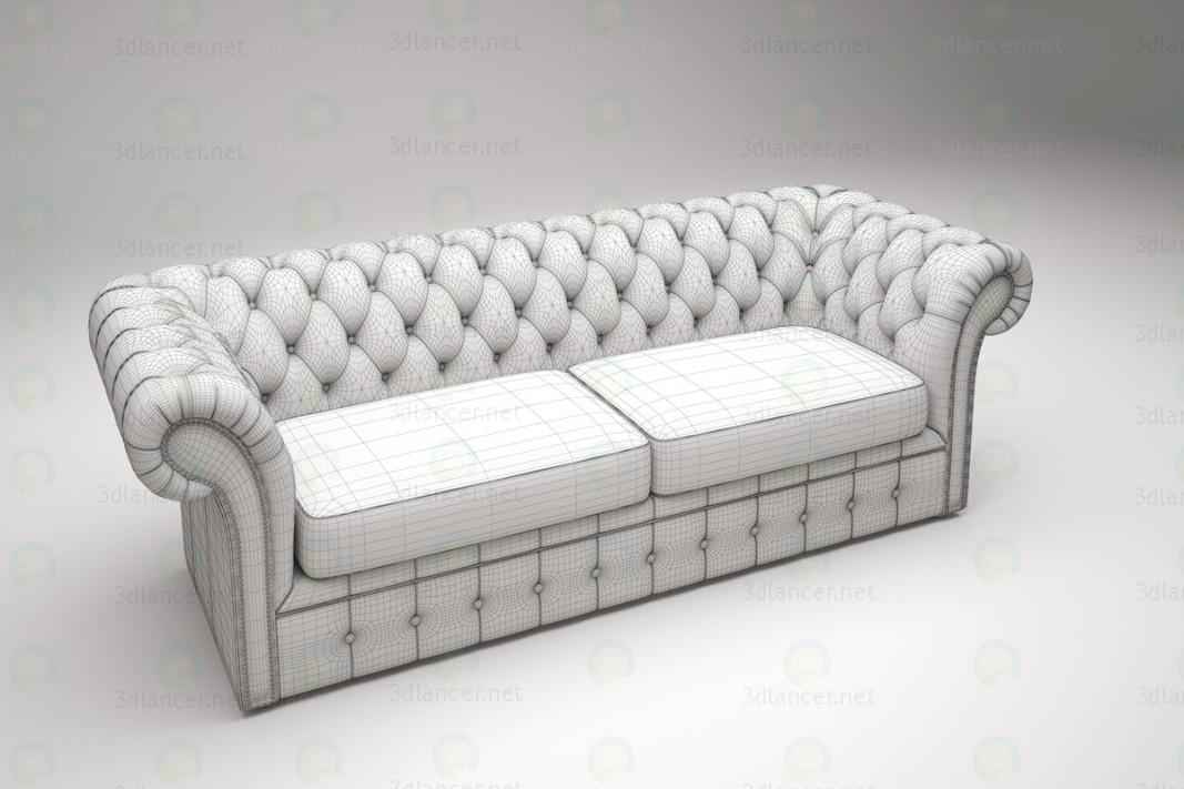 3d Трёхместный диван Chester модель купить - ракурс