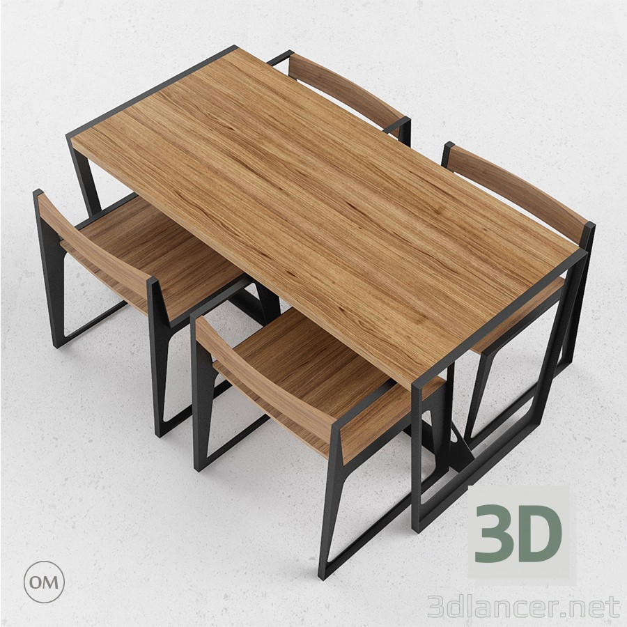 3d model table in the style of minimalism id 14800 for Table 3d model