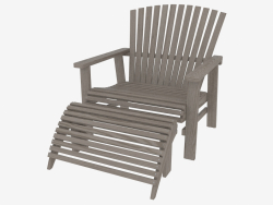 Armchair with footrest