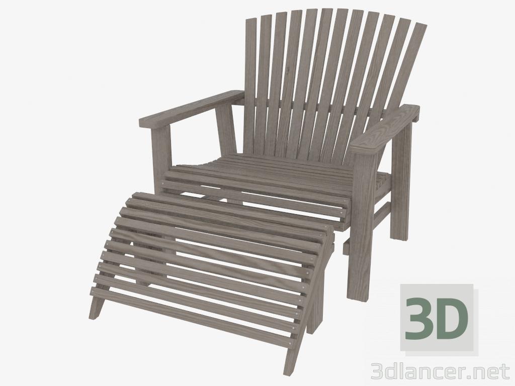 Exquisit Sessel Mit Fußstütze Sammlung Von 3d Modell Fußstütze - Vorschau