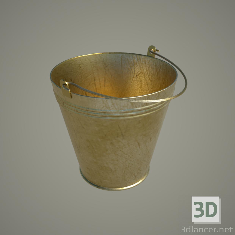 3 डी मॉडल बाल्टी 8 एल, सामान्य (तामचीनी, एल्यूमिनियम ... सोना) - पूर्वावलोकन