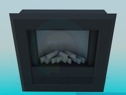 Dark fireplace