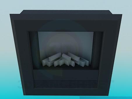 3 डी मॉडल अंधेरे चिमनी - पूर्वावलोकन