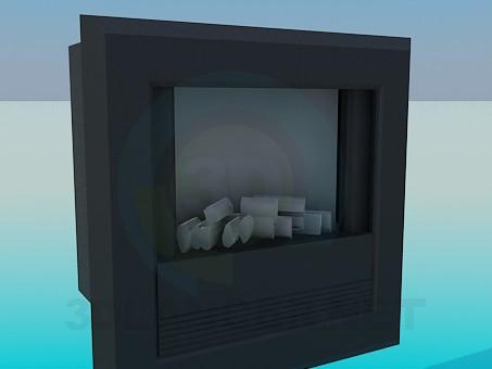 3d модель Темный камин – превью