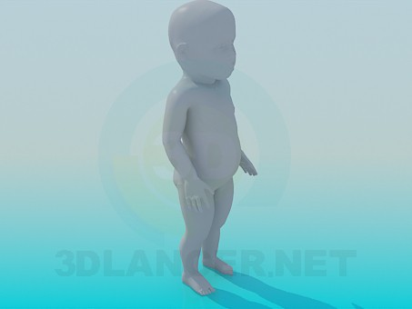 modelo 3D Niño - escuchar