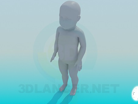 3d модель Ребенок – превью
