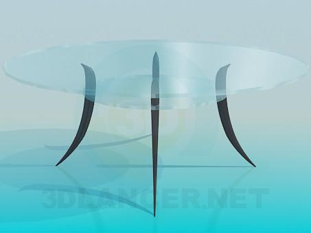 3d модель Скляний столик з поличкою – превью