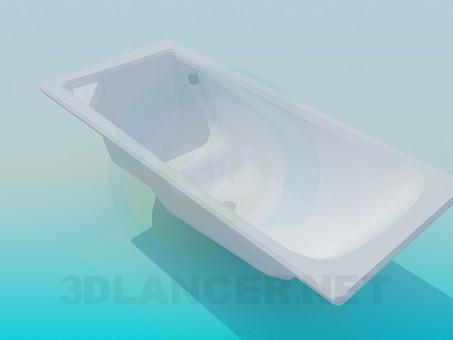 3d модель Ванна с сидением – превью