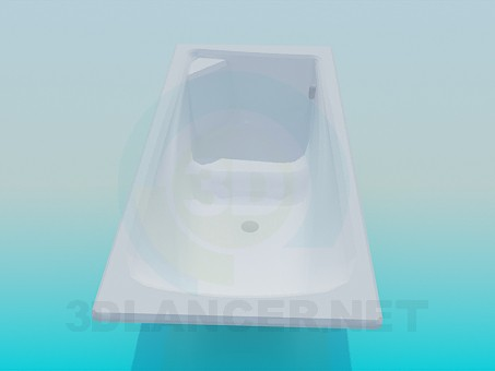 3d model Bath with a seat - preview