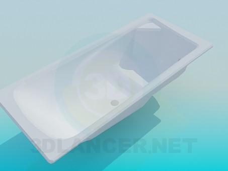 3d модель Ванна з сидінням – превью