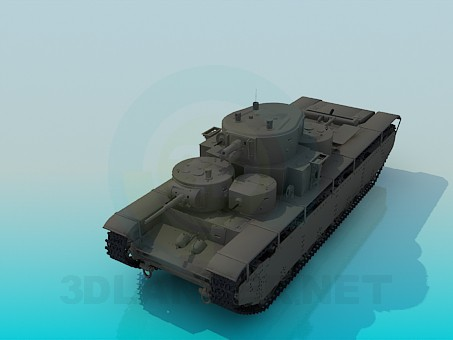 3d model T-35A - preview