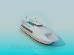 Grand bateau à moteur