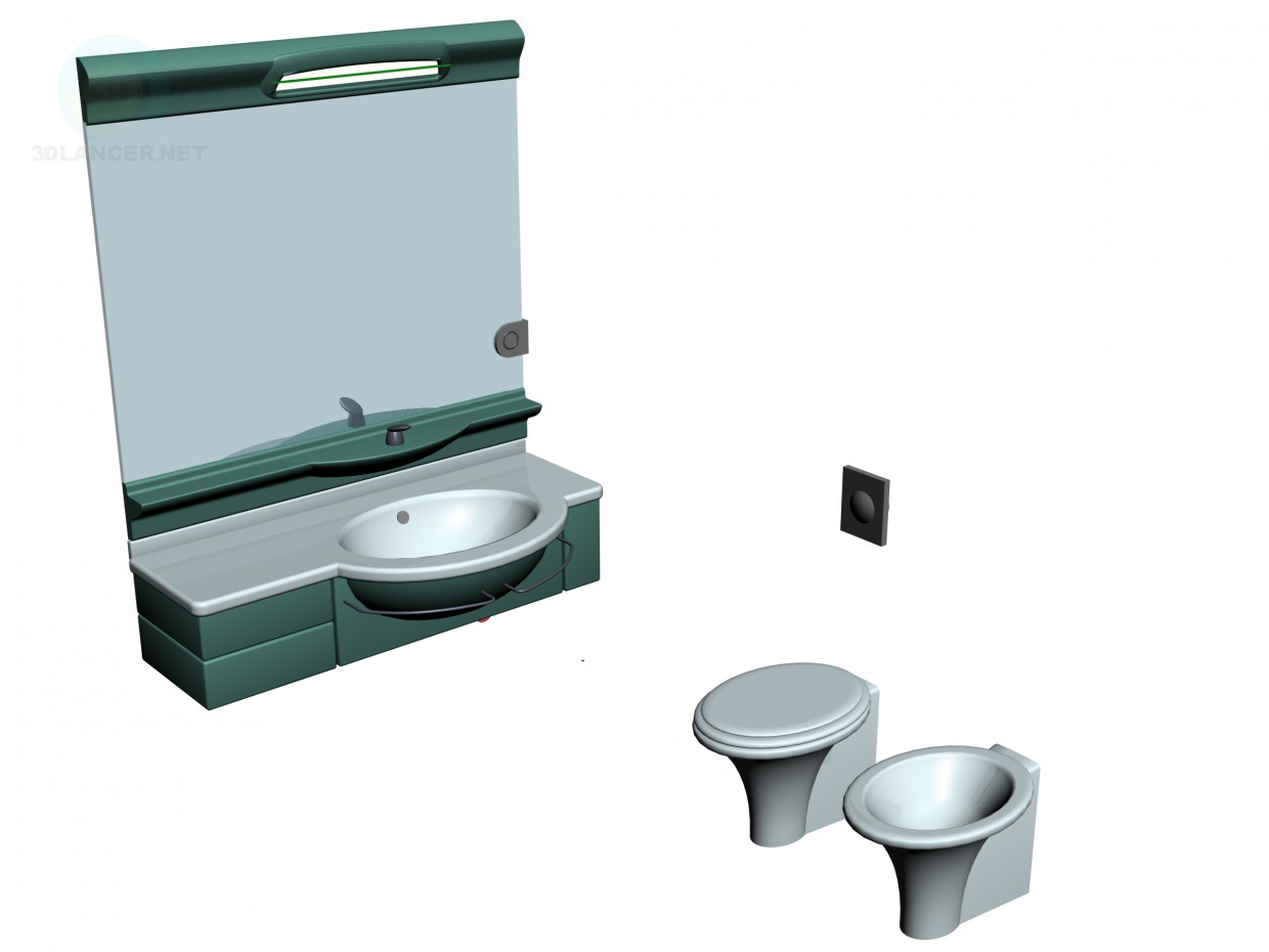 3d model A set of sanitary ware - preview