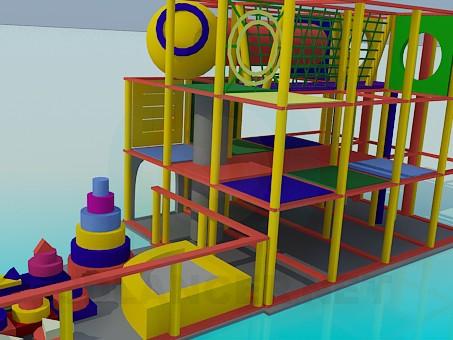 modelo 3D Zona de juegos - escuchar