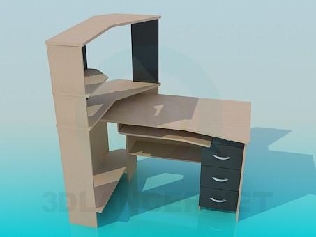 3d modeling Computer Desk model free download