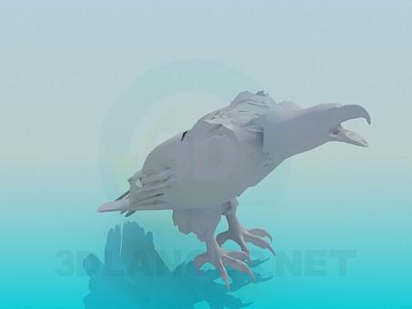 Scarica di Aquila dell'uccello modello gratuito di modellazione 3D