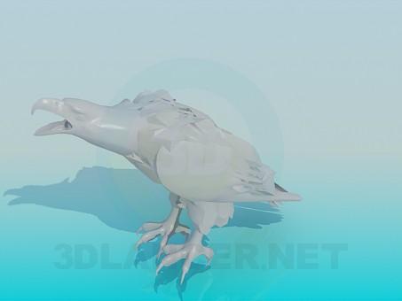 modelo 3D Águila pájaro - escuchar