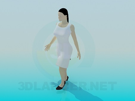 3d model Woman - preview