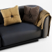3d Fat-Tulip-3 Seater Sofa model buy - render
