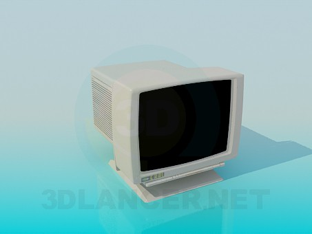 3d modeling Monitor CRT model free download