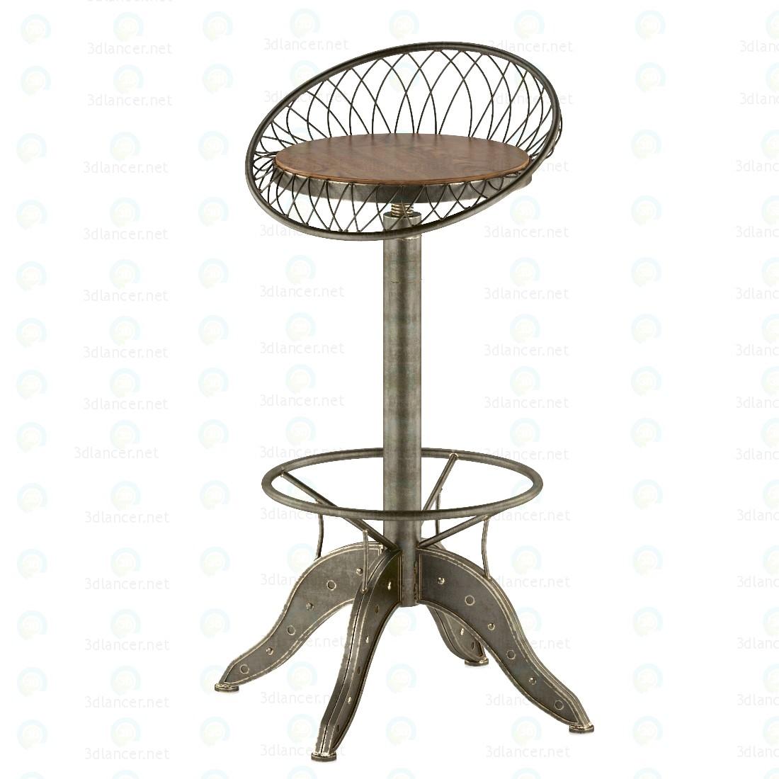 3d Сталевий барний стілець модель купити - зображення