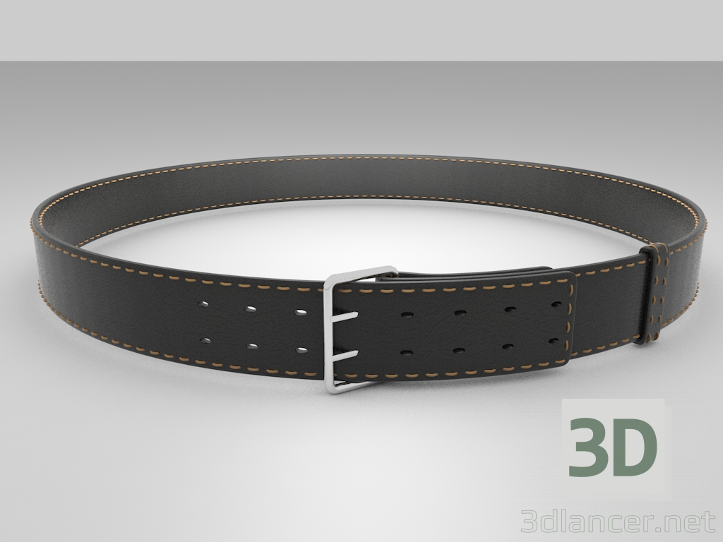 3d 3D Belt model buy - render