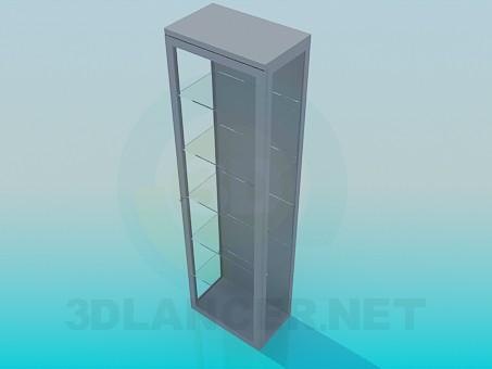 3d модель Шафка - вітрина – превью