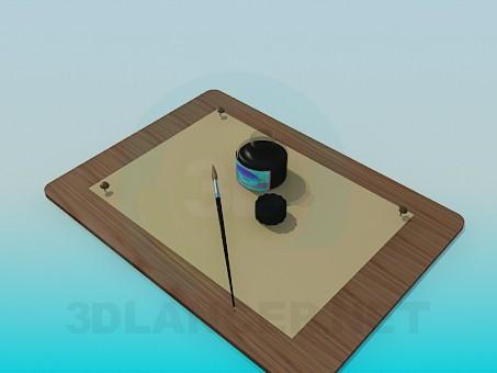 3d модель Набор для рисования – превью