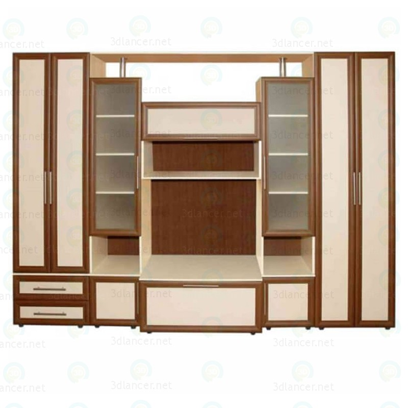 "3d modeling wall unit in the living room ""Dream"" model free download"