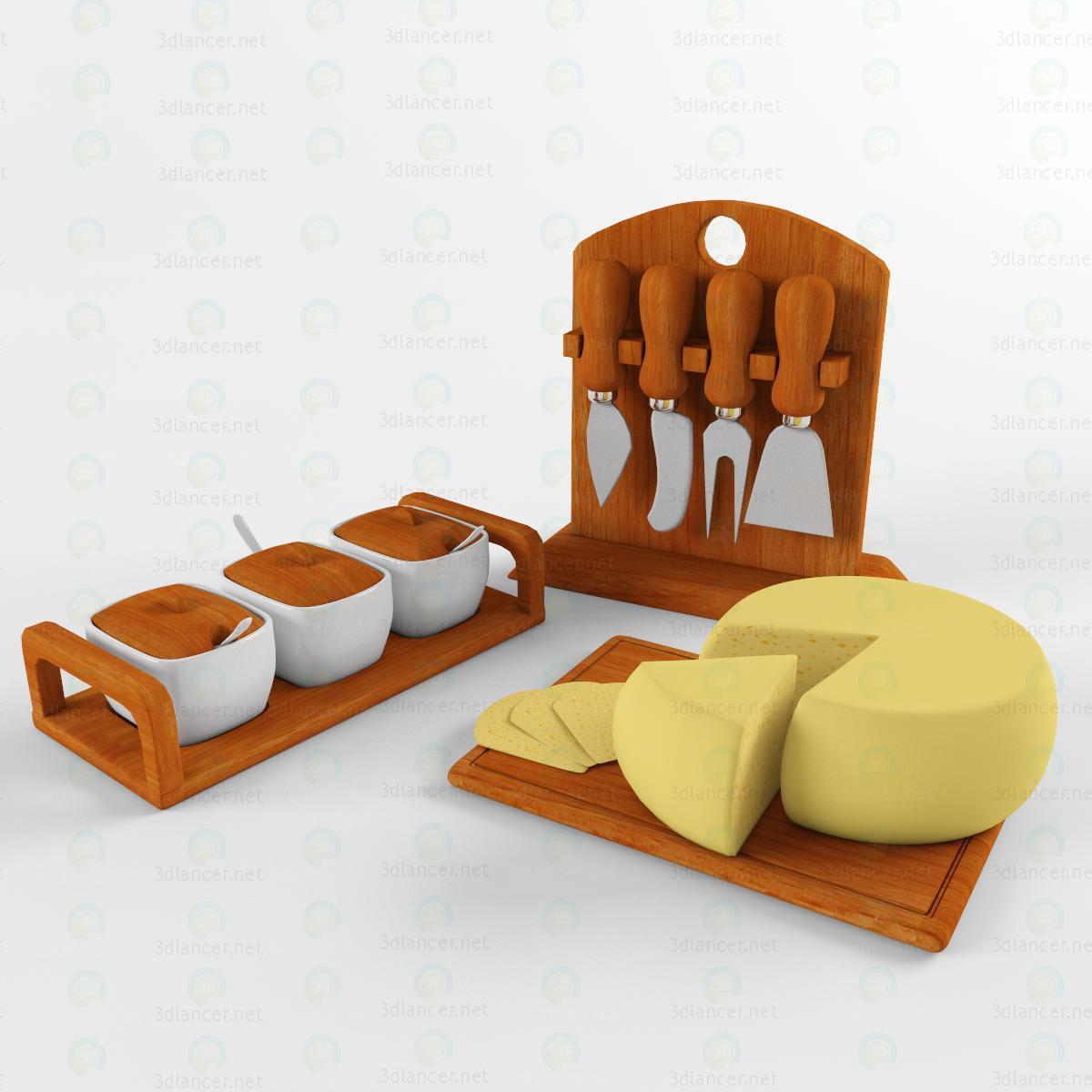 3d модель Ножи для сыра – превью