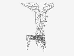 Silla de silla (negro) silla de pilón