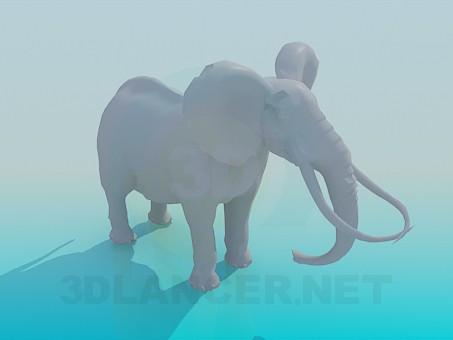 3 डी मॉडल हाथी - पूर्वावलोकन