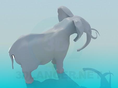 3d модель Слон – превью