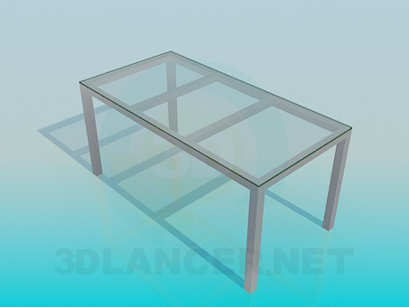 3d modeling Rectangular coffee table model free download