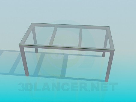 3d model Rectangular coffee table - preview