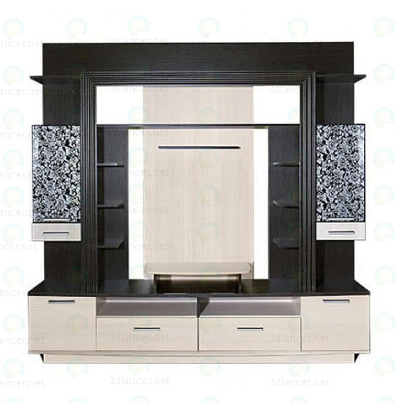 "3d model Wall unit ""Erica"" for the living room - preview"