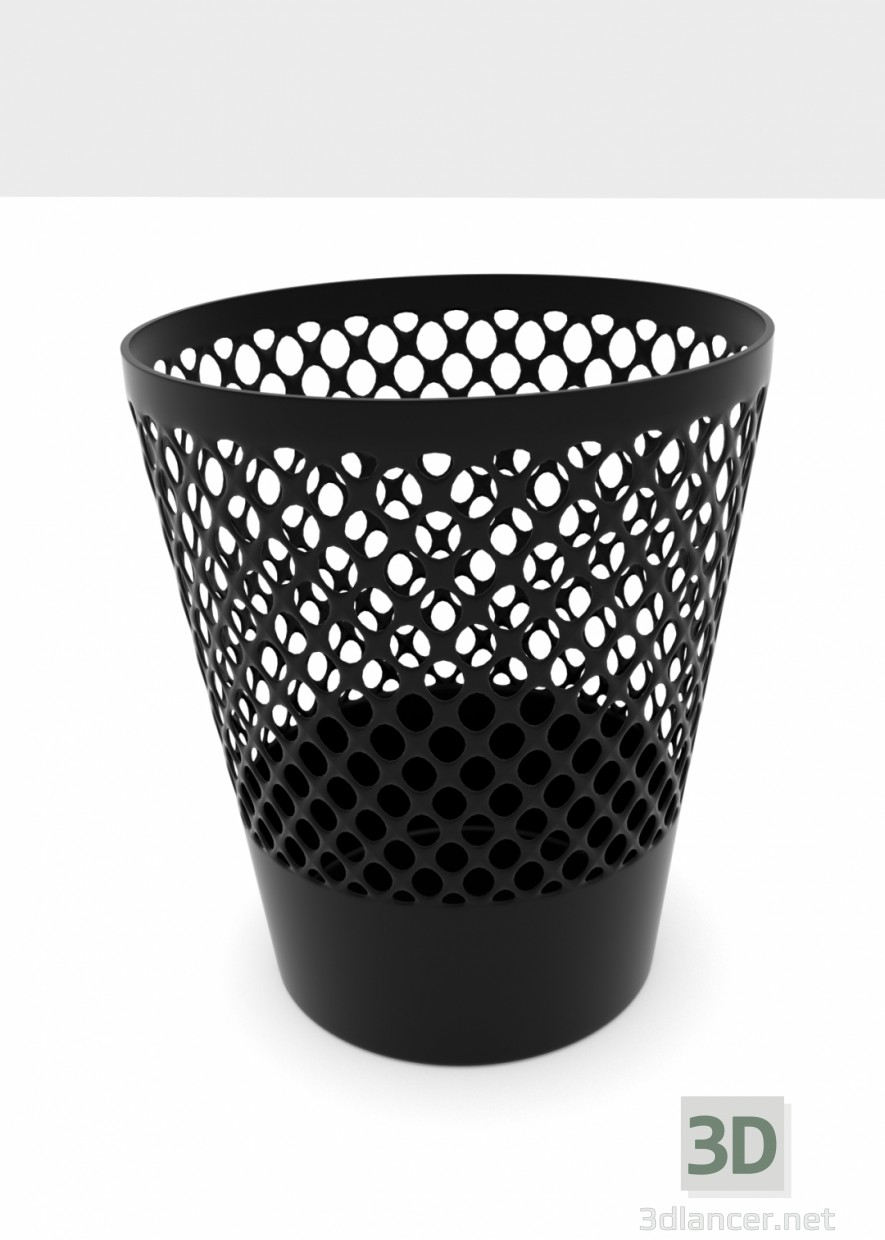 3d Waste basket model buy - render