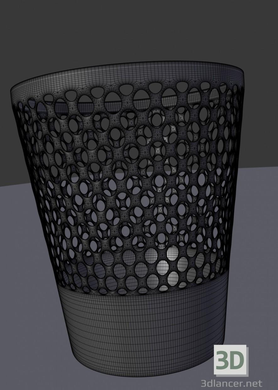 3d Waste basket model buy - render