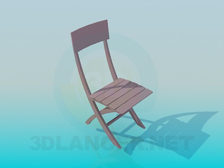 3d моделирование Деревянный стул модель скачать бесплатно