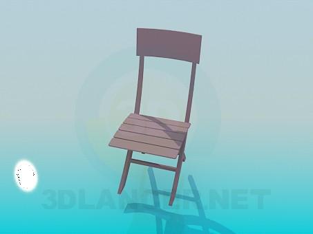 modelo 3D Taburete de madera - escuchar