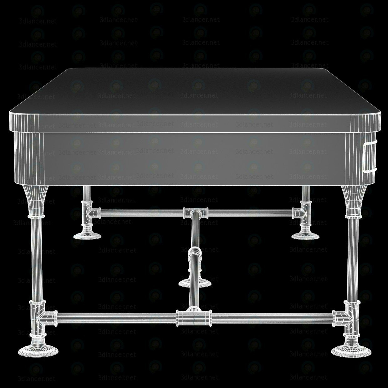 La mesa de centro madera poste rústico hierro Mango 2 cajones 3D modelo Compro - render