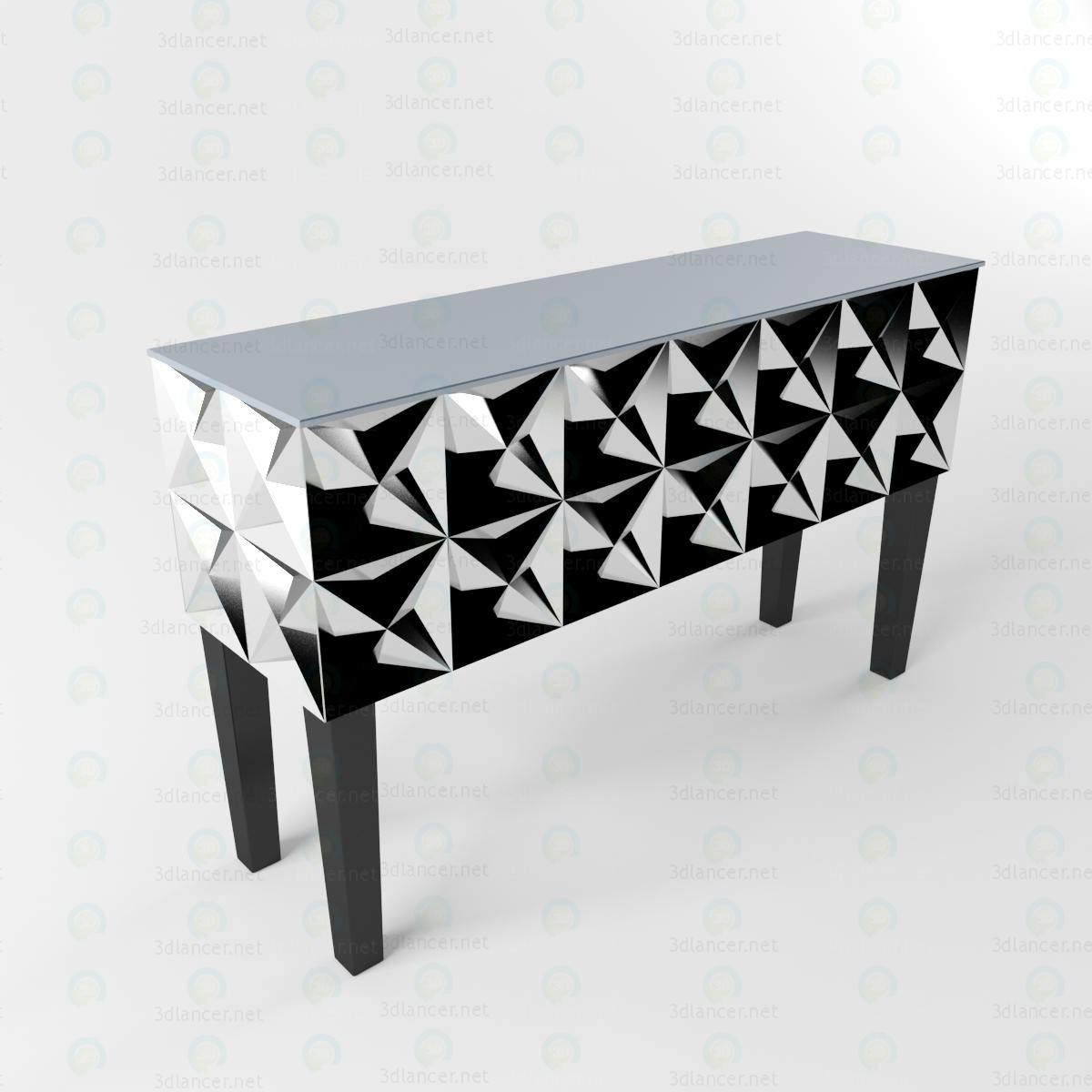 3d model Decorative desk - preview
