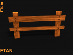 3D Wooden Fence Game asset - Low poly